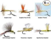 Sulphur Dry Flies Assortment - 6 Flies