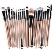 Xjp 20 PCS/Set Makeup Brushes Foundation Brush Eyebrow Brush Eyeshadow Brush Lip Brush