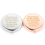 Slogan Compact Mirror - Good Friends Are Like Angels