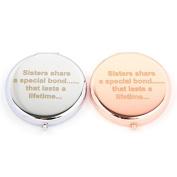 Slogan Compact Mirror - Sisters Bond