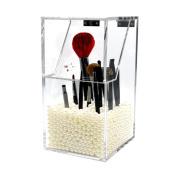 Xjp Makeup Brushes Holder Acrylic Dustproof Storage Box Organiser Shelf