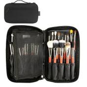 MLMSY Makeup Bag for Makeup Brushes Professional Cosmetic Organiser Beauty Artist Storage Brush Bag with Belt Strap Makeup Handbag Pouch Makeup Brushes Holders