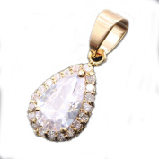 LOVE STUDIO,High-grade Pendant Simulation Gold-plated Inlaid Exquisite Zircon Clavicle Chain Simple Temperament Personality Wild Travel for Commemorate Wedding with Necklace