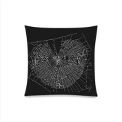 Spider Web Custom Pillow Cases Cushion Cover Living Room Bedroom Decorate 46cm X 46cm
