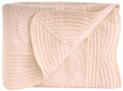 Lightweight All Weather Embossed Detail Cotton Baby Coverlet 90cm x 120cm