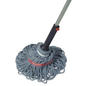Rubbermaid Commercial Self-Wringing Blended Yarn Head Blue Ratchet Twist Mop