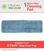 Washable Replacement Damp Mop Pad, Fits e-cloth Mops, Part # 10620, by Think Crucial
