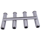 """8"""" Fishing Rod Holder (Holds 4 Rods) 316 Stainless Steel, Rod Holder ID = 1- 5/8"""" (41mm) Rod Holder L = 16 - 3/16"""" (411mm)GENUINE Suit Boats & Yacht"""