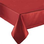 Benson Mills Fabric Elegance Mylar Metallic Tablecloth, 150cm x 210cm , Red