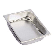 Adcraft 165H4 Deli Pan Half Size 10cm High, Stainless Steel