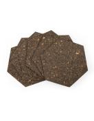Cork Hexagon Memo Boards, Brown