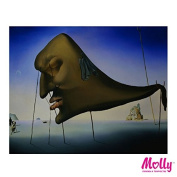 Salvador Dali - SLEEP - Painting By Numbers by MOLLYS 41cm x 50cm 23 Colours with Wooden Frame