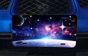 Cosmic Planets Night Sky Dawn Over Earth Printed Design Aluminium Licence Plate for Car Truck Vehicles