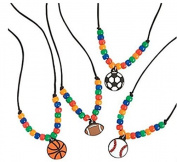 12 - SPORTS necklace craft kits