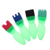 MonkeyJack 4Pcs/Set Kids Children Painting Tools DIY Toys Drawaing Seals Sponge Brush