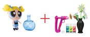 DohVinci Faux Flower Vase Kit AND The Powerpuff Girls 30cm Puff Out Plush - Bubbles - Bundle