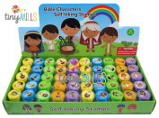 50 Pcs Bible Characters Religious Assorted Stampers for Kids