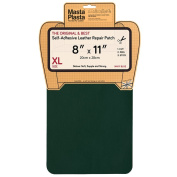 MastaPlasta, Leather Repair Patch, First-aid for Sofas Car Seats, Handbags Jackets, Plain 20cm by 28cm , Green