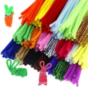 Caydo 500 Pieces Chenille Stems Pipe Cleaners 6 mm x 12 Inch for DIY Art Craft