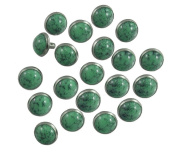 Happy E-life 20 PCS Beautiful DIY Buttons Turquoise Rapid Rivets Studs DIY Leather-Craft for Bag Shoes Bracelet Tandy Leather Green