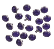 Happy E-life 20 PCS Beautiful DIY Buttons Turquoise Rapid Rivets Studs DIY Leather-Craft for Bag Shoes Bracelet Tandy Leather Purple