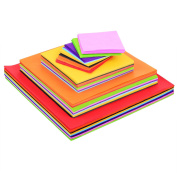 Blulu 4 Sizes Squares Tissue Paper Bulk Multicolor Craft Papers, 5 by 5 cm, 8 by 8 cm, 12 by 12 cm, 15 by 15 cm, 1600 Pieces