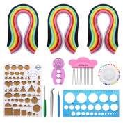 Dreamtop Paper Quilling Set with 26 Colour Quilling Strips and Quilling Tools Cork DIY Tool