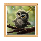 Stebcece 5D Diamond Painting OWL Cross Stitch Kit Rhinestone Embroidery Art for House Decor