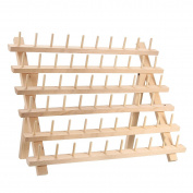 KINGSO 60 Spool Wood Thread Rack and Organiser for Sewing Quilting Embroidery