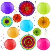 Colourful Party Pack – Birthday Decorations - Outdoor Fiesta – Cinco De Mayo – Baby Shower – Wedding – Bachelorette - Photo Props