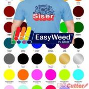 30 Sheets SISER EasyWeed Heat Transfer Vinyl Bundle, 38cm x 30cm Assorted Colours