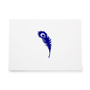Peacock Feather Style 4001 Rubber Stamp Shape great for Scrapbooking, Crafts, Card Making, Ink Stamping Crafts