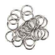 20 Pcs Round Carabiner Gate O Spring Loaded Gate Clips Hook Key ring Buckle