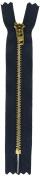 YKK Metal Jean Zipper, 13cm , Navy