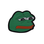 Gudeke Sad Pepe Frog Embroidery Patches