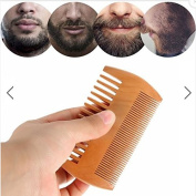 Double Sided Dense Broad Beard Smoothing Hair Moustache Comb Health Massage by Rubyshop
