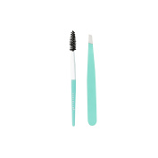 Danielle D3549SF Duo Tweezer and Spoolie Set, Seafoam