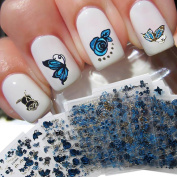 hunpta Mixed Adhesive DIY Decals Manicure 3D Butterfly Flower Nail Art Stickers