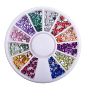 Heart Shape Mixed Colour Rhinestone Valentine Theme 3D Nail Art Decoration in Wheel Manicure DIY Tools by Clest F & H
