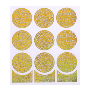 Demiawaking 24Pcs Hallow Out Pattern Stencil Nail Art Fittings Transfer Foil Stickers Waterproof DIY Manicure Wraps Stickers Nail Tips Decorations