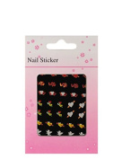Heart-shaped nail stickers, Cupid, red, orange, white, yellow, green