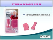 Stamp & Scraper Set Ii With Handles And Scraper by Konad Pink Stamping Nail Art - Cute Nails