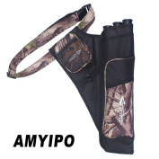 AMYIPO Hip Quiver Hunting Training Archery Arrow Quiver Holder Waist Bow Bag Pouch for Hunting Shooting Recurve Bows, 3-Tubes or 4-Tubes