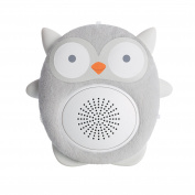 SoundBub by WavHello, White Noise Machine and Bluetooth Speaker | Portable and Rechargeable Baby Sleep Sound Soother – Ollie the Owl, Grey