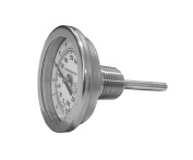 CNS Gauges 5.7cm Dial x 6.4cm Stem Brewing/Distilling Thermometer with 1.3cm NPT