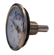 CNS Gauges 6.4cm Dial x 3.8cm Stem Brewing/Distilling Thermometer with 1.3cm NPT