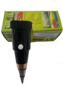 VT-05 Soil pH and Moisture Sensor Metre, soil water monitor, Soil Tester PH Instrument with Hygrometer monitor humidity data logger/ recorder PH range 3~8ph, moister range 1~8 , Black