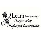 """Webla Letter """"Learn from Yesterday Live for Today Hope for Tomorow"""" Family Decal Living Room Bedroom Vinyl Carving Wall Decal Sticker for Living Room Bedroom TV Background Decoration"""