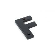 Black Letter F - Height 78mm, Thickness 8mm