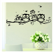 ODN Owl Wall Decal Removable Art Sticker Kids Nursery Room Decor